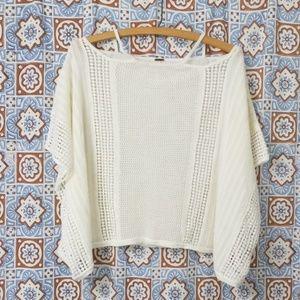 Free People short sleeve knit crochet top